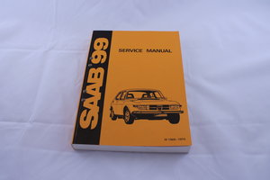 Saab 99 orginal service manual, English edition